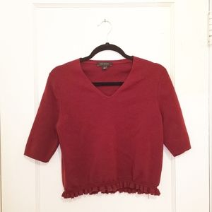 Ann Taylor Cropped Wool Knit Sweater